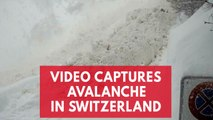 Tourists stranded on the Swiss Alps by avalanche