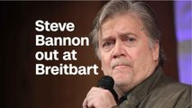 """Steve Bannon Resigns From Breitbart Over """"Fire and Fury"""" Book Fallout"""