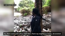 Oprah Winfrey shows home destroyed by mudslides