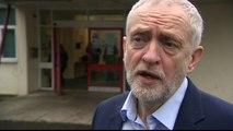 Nurses in 'floods of tears' says Corbyn after hospital visit