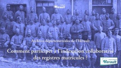 Comment participer à l'indexation collaborative des registres matricules ?
