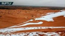 Les conséquences du réchauffement climatique : il a neigé dans le désert du Sahara en Algérie