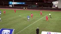 Egalisation d'Avranches!!! A peine entrée en jeu NKOLOLO marque d'une frappe à l'entrée de la surface. 2 buts partout.