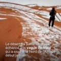 Les dunes du Sahara recouvertes de neige