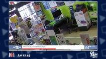 Un braqueur pris au piège dans un magasin !