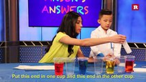 Anson Wong, boy genius, demonstrates the walking water experiment