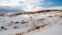 The Sahara desert was covered in over a foot of snow