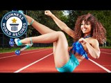 Roller skating with high heels and hula hooping! // Guinness World Records Italian Show (Ep 23)