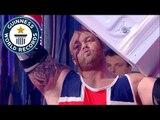 Washing machine throwing showdown - Guinness World Records