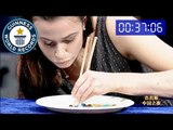 Most M&M's / Smarties eaten in one minute with chopsticks - Classics
