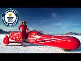 Fastest streamlined 3-wheeled electric motorcycle speed - Guinness World Records