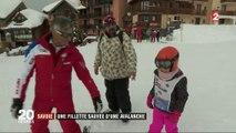 """TEMOIGNAGE FRANCE 2. """"Je suis restée au moins cinq minutes"""" : une fillette raconte comment elle a survécu à une avalanche en Savoie"""