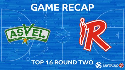 7Days EuroCup Highlights Top 16, Round 2: ASVEL 68-64 Reggio Emilia