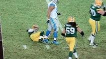 Did Ndamukong Suh intentionally step on Aaron Rodgers' leg?