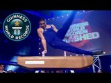 London 2012 Olympic gymnast Louis Smith breaks most Thomas flairs on a pommel horse record