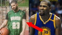Drake Goes Next Level Bandwagon w: Kevin Durant & Steph Curry Tattoos While Wearing a LeBron Jersey