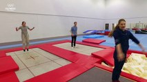 Can gamer Ashley Marie shock Bryony Page in an epic trampoline challenge _ Gamer