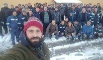 Artvin'de maden işçilerinden iş bırakma eylemi