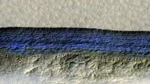 La NASA descubre hielo de AGUA limpia en Marte justo bajo la superficie