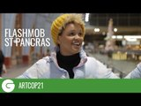 ArtCOP21 Flashmob sing 'Stand by Me' at St Pancras