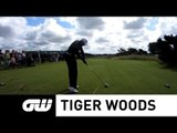Tiger Woods Smashing a Driver on the 7th Tee at Royal Lytham & St Annes - The Open Championship 2012