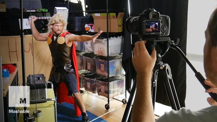 We threw hammers behind the scenes of our DIY 'Thor: Ragnarok' trailer