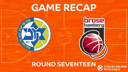 EuroLeague 2017-18 Highlights Regular Season Round 17 video: Maccabi 90-88 Bamberg