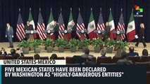 UNITED STATES ISSUES WARNING ABOUT TRIPS TO 5 MEXICAN STATES