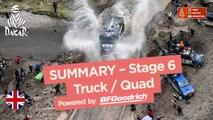 Summary - Truck/Quad - Stage 6 (Arequipa / La Paz) - Dakar 2018