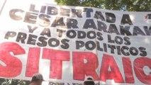 Simpatizantes del Partido Obrero marcharon en Buenos Aires por liberación de militantes