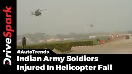 Indian Army Soldiers Injured In Helicopter Fall - DriveSpark