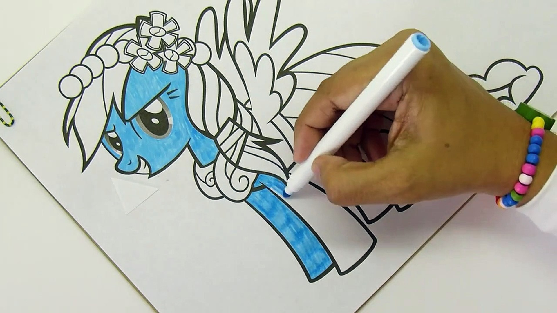 My Little Pony Rainbow Dash Coloring Pages Mlp Video Dailymotion
