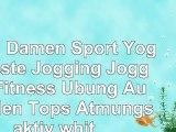 PUPU Damen Sport Yoga Weste Jogging Jogging Fitness Übung Aushöhlen Tops Atmungsaktiv