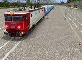 Decuplarea locomotivei EA 40-0881 de la R 9565 și sosirea trenului IR 73 cu Traxx 004 și plecarea cu EA 114