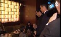 Cristiano, su hijo y Messi bromean antes de la gala del Balón de Oro