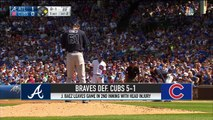Javier Baez Leaves Early as Cubs Fall to the Braves