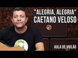 Caetano Veloso - Alegria, Alegria (como tocar - aula de violão)
