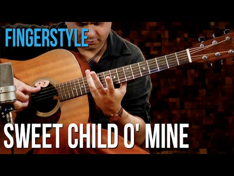Guns N' Roses – Sweet Child O' Mine (aula de violão fingerstyle)