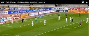 Το γκολ του Μάρκο Λιβάγια - ΑΕΚ 1-0  ΠΑΣ Γιάννινα 14.01.2018 (HD)