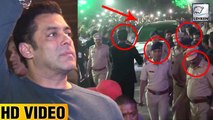 Salman Khan Walks With High Security After Getting Threats From A Gangster