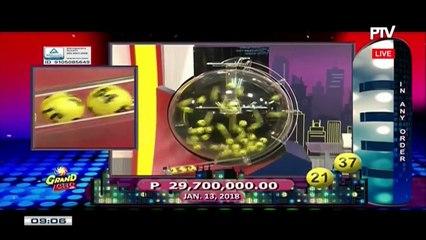 PCSO 9 PM Lotto Draw, January 13, 2018