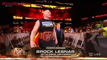 Braun strowman attacks on Brock Lesnar and Kane in backstage Jan.8_2018 WWE RAW