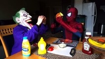 Spiderman vs Joker w  Frozen Elsa, Spidergirl, Iron Man & Captain America! Funny Superheroes | Superheroes | Spiderman | Superman | Frozen Elsa | Joker