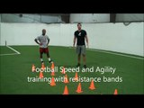 Football Speed Drills Resistance Bands Training Kinetic Bands | Part 2