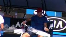 Open d'Australie 2018 - Tomas Berdych à l'entrainement à Melbourne