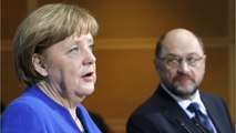 Opponents Within The SPD Stand Against A Grand Coalition With Merkel