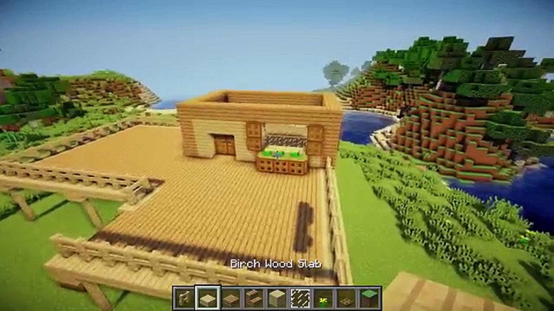 Minecraft Survival House Tutorial How To Build A House In Minecraft