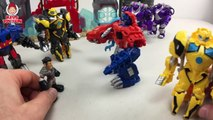 Transformers Rescue Bots Dinobots New Evil Optimus Prime and Bumblebee Battle Optimus & Bumblebee