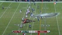 Atlanta Falcons quarterback Matt Ryan extends play, finds wide receiver Mohamed Sanu to convert on third down
