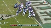 Philadelphia Eagles running back LeGarrette Blount powers across the goal line for fourth-down TD run
